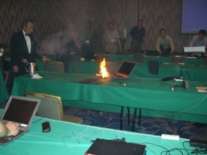 Jimmy was dismayed that his fasttech special batteries torched not only his APV, but his laptop too